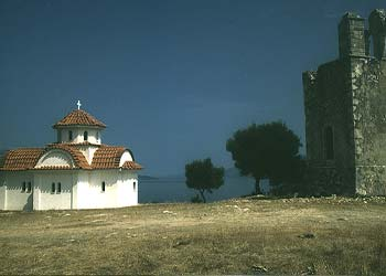 AGRILIA MONASTERY - Agrilia Monastery is situated on a hill overlooking the emerald beach of Antisamos and the coastline of Ithaca. The location is set against the background of Mount Aenos, covered with evergreens unique to Cephalonia.