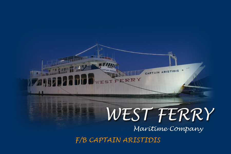 F/B CAPTAIN ARISTIDIS  FERRIES IN  Fiskardo Kefalonia Ionian Island