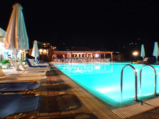 Photo of Pool by Night Liberatos Village Lassi Kefalonia CLICK TO ENLARGE