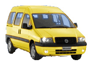 Category K Fiat Scudo 2000cc A/C mini bus - 9 seats CLICK TO ENLARGE
