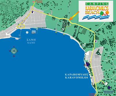Kefalonia Island Map